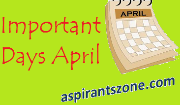 Important Days observed in the Month of April 2017