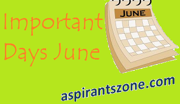 List of Important Days in June 2017 with themes