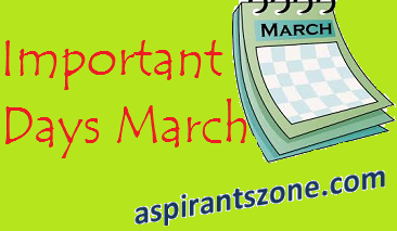 Important Days observed in the Month of March 2017