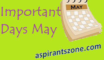 Important Days observed in the Month of May 2017